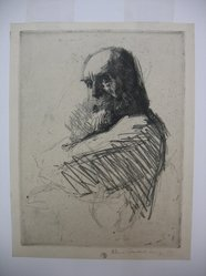 William Auerbach-Levy (American, 1889-1964). Professor B. Soft ground etching, Sheet: 10 1/4 x 7 15/16 in. (26 x 20.2 cm). Brooklyn Museum, Gift of The Louis E. Stern Foundation, Inc., 64.101.269. © artist or artist's estate