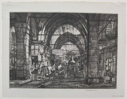Louis Conrad Rosenberg (American, born 1890). The Grand Bazaar, 1927. Drypoint on laid paper, Mat: 19 5/16 x 14 3/16 in. (49 x 36.1 cm). Brooklyn Museum, Gift of The Louis E. Stern Foundation, Inc., 64.101.301. © artist or artist's estate