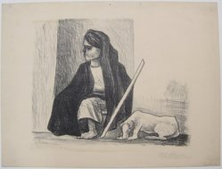 Pablo O'Higgins (American, 1904-1983). Peasant and Dog, n.d. Lithograph on paper, sheet: 12 13/16 x 16 7/8 in. (32.5 x 42.9 cm). Brooklyn Museum, Gift of Mr. and Mrs. Gustave Gilbert, 66.199.12. © artist or artist's estate