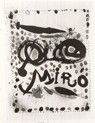 Joan Miró (Spanish, 1893-1983). Untitled Poster. Lithograph in Five Colors, 27 1/4 x 20 15/16 in. (69.2 x 53.2 cm). Brooklyn Museum, Gift of Barry R. Peril, 66.202. © artist or artist's estate