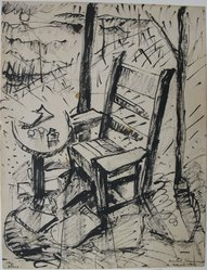 Beulah Stevenson (American, 1875-1965). My Place, March 1943. Ink on paper, sheet: 9 x 6 15/16 in. (22.9 x 17.6 cm). Brooklyn Museum, Gift of Miriam Eaton, 66.36.4. © artist or artist's estate