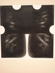 Alma Duncan (Canadian, 1917-2004). Woman Series, black Butterfly, 1966. Conte crayon on vellum, 20 x 20 in. (50.8 x 50.8 cm). Brooklyn Museum, Frederick Loeser Fund, 67.149. © artist or artist's estate