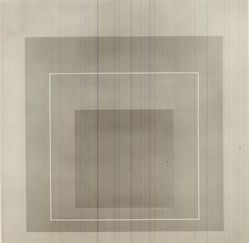 Josef Albers (American, 1888-1976). White Line Squares- VI, 1966. Color lithographs on wove Arches paper, Sheet: 20 3/4 x 20 3/4 in. (52.7 x 52.7 cm). Brooklyn Museum, Gift of the artist, 67.184.16. © artist or artist's estate