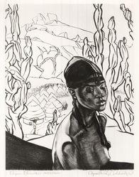 Cyrus LeRoy Baldridge (American, 1889-1975). Pagan Princess - Nigeria, 1938. Etching on laid paper, 10 3/4 x 8 1/2 in. (27.3 x 21.6 cm). Brooklyn Museum, Gift of Mrs. Harold J. Baily, 67.27.13. © artist or artist's estate