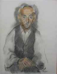 Isaac Soyer (American, born Russia, 1902-1981). My Father, n.d. Pastel and charcoal on paper, sheet: 23 9/16 x 18 in. (59.8 x 45.7 cm). Brooklyn Museum, Gift of Fannie Lager in memory of her parents, Fred and Anna Lager, 68.58. © artist or artist's estate