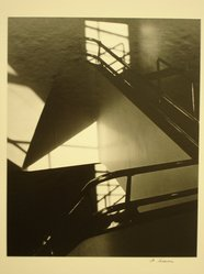 Daniel Lessner. Interior Staircase (the Brooklyn Museum), 1977. Gelatin silver photograph, 9 x 7 1/4 in. (22.8 x 18.4 cm). Brooklyn Museum, Gift of the artist, 79.212.4. © artist or artist's estate