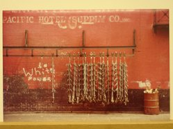 Sigmund  T. Meyers (American, 1923-2006). Meat Hooks. Cibachrome print Brooklyn Museum, Gift of the artist, 79.309.8. © artist or artist's estate