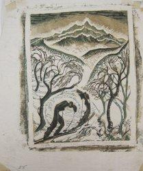 Julia Mavrogordato (British, 1903-1992). North Wind, ca. 1930. Linocut on paper, sheet: 10 11/16 x 9 in. (27.1 x 22.8 cm). Brooklyn Museum, Designated Purchase Fund, 80.146.4. © artist or artist's estate