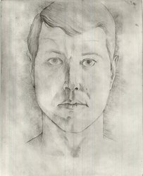 Robert Gordy (American, 1933-1986). Self Portrait, 1960. Silver point on paper, 11 1/2 x 9 in. (29.2 x 22.9 cm). Brooklyn Museum, Gift of the artist, 80.85. © artist or artist's estate