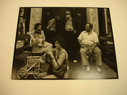 Victor Friedman (American, born 1930). Group on Stoop in New York, 1981. Gelatin silver photograph, image: 7 1/2 x 9 9/16 in. (19.1 x 24.3 cm). Brooklyn Museum, Gift of the artist, 83.76.4. © artist or artist's estate