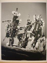 Grete Mannheim (American, born Germany, 1909-1986). Three Navajo Dancers at Inter-tribal Ceremonial, Gallup, New Mexico, 1952, 1952. Gelatin silver photograph, 9 1/2 x 7 1/2 in. (24.0 x 19.0 cm). Brooklyn Museum, Gift of Grete Mannheim, 84.232.6. © artist or artist's estate
