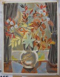 Marguerite Thompson Zorach (American, 1887-1968). Still Life. Silkscreen, Sheet: 17 3/16 x 13 3/16 in. (43.7 x 33.5 cm). Brooklyn Museum, Gift of the collection of the Zorach children, 84.45.7. © artist or artist's estate