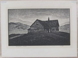 Asa Cheffetz (American, 1897-1965). Spring Rains - Vermont. Wood engraving, Sheet: 9 1/8 x 12 3/16 in. (23.2 x 31 cm). Brooklyn Museum, Gift of IBM Gallery of Science and Art, 85.187.8. © artist or artist's estate
