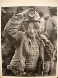 Builder Levy (American, born 1942). Brenda Ward, U.S. Steel #50 Mine, Pinnacle W. Va., 1982. Toned gelatin silver photograph Brooklyn Museum, Gift of Harold and Vivian Levy, 85.189.5. © artist or artist's estate