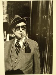Walter Weiner (American, born 1943). Untitled (Man with Cigar at Trump Tower). Gelatin silver photograph Brooklyn Museum, Gift of Peter J. Golden, 85.239.1. © artist or artist's estate