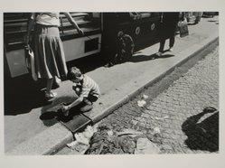 Walter Weiner (American, born 1943). Untitled (Paris Child Playing in Street). Gelatin silver photograph Brooklyn Museum, Gift of Peter J. Golden, 85.239.2. © artist or artist's estate