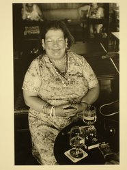 Walter Weiner (American, born 1943). Untitled (Fat, Smiling Woman in Cafe). Gelatin silver photograph Brooklyn Museum, Gift of Peter J. Golden, 85.239.4. © artist or artist's estate