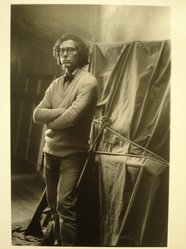 Lenore Seroka (American, born 1935). Christo, 1984. Gelatin silver photograph, sheet: 14 x 11 in. (35.5 x 27.8 cm). Brooklyn Museum, Gift of the artist, 85.63.5. © Lenore Seroka