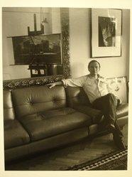 Lenore Seroka (American, born 1935). Richard Estes, 1982. Gelatin silver photograph, sheet: 14 x 11 in. (35.5 x 27.8 cm). Brooklyn Museum, Gift of the artist, 85.63.8. © Lenore Seroka