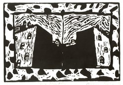Michael Jed Robbins (American, born New York City, 1949). Like Other Afternoons, 1982. Linocut on paper, sheet: 12 x 18 in. (30.5 x 45.7 cm). Brooklyn Museum, Gift of the artist, 85.90. © artist or artist's estate