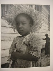 W. Eugene Smith (American, 1918-1978). [Untitled] (Child with Straw Hat and Crutches), 1951. Gelatin silver photograph, Sheet: 10 1/2 x 13 1/2 in. (26.7 x 34.3 cm). Brooklyn Museum, Gift of Philip Goutell, 87.245.4. © W. Eugene Smith