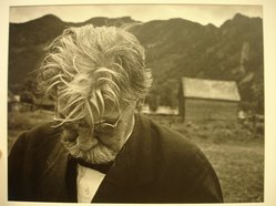 W. Eugene Smith (American, 1918-1978). [Untitled] (Albert Schweitzer), 1954. Gelatin silver photograph, Sheet: 11 x 13 7/8 in. (27.9 x 35.2 cm). Brooklyn Museum, Gift of Philip Goutell, 87.245.66. © W. Eugene Smith