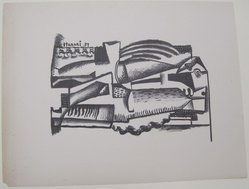 Hananiah Harari (American, 1912-2000). [Untitled], 1937. Off-set lithograph on off-white wove paper, sheet: 11 15/16 x 9 3/16 in. (30.4 x 23.3 cm). Brooklyn Museum, Purchased with funds given by an anonymous donor, 88.54.12. © artist or artist's estate