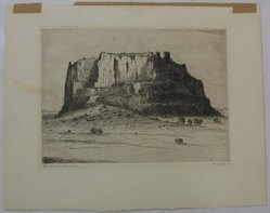 Albert Lorey Groll (American, 1866-1952). The Enchanted Mesa, n.d. Etching on cream-colored wove paper, Sheet: 12 x 15 1/4 in. (30.5 x 38.8 cm). Brooklyn Museum, Gift of Dr. Clark S. Marlor, 88.6.1. © artist or artist's estate