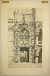 Ernest David Roth (American, 1879-1964). Porta Della Carta -- Venice, 1941. Etching on cream wove paper, Image: 14 x 17 7/8 in. (35.6 x 45.4 cm). Brooklyn Museum, Gift of Dr. Clark S. Marlor, 88.6.10. © artist or artist's estate