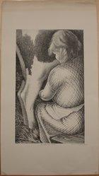 Bernard Joseph Steffen (American, 1907-1980). Milking Time, n.d. Lithograph, Sheet: 16 13/16 x 9 5/16 in. (42.7 x 23.7 cm). Brooklyn Museum, Brooklyn Museum Collection, X1042.143. © artist or artist's estate