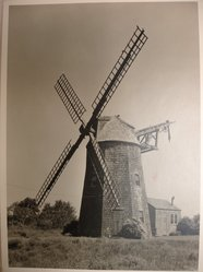 Samuel H. Gottscho (American, 1875-1971). Windmill at Hayground, L.I., General Exterior, 1930. Gelatin silver photograph, image: 10 1/2 x 7 1/2 in. (26.7 x 19.1 cm). Brooklyn Museum, Brooklyn Museum Collection, X894.135. © artist or artist's estate