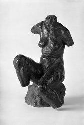 Nena de Brennecke (Argentine, born 1888). Female Torso, before 1930. Bronze, 16 3/8 x 9 7/8 x 10 5/8 in. (41.6 x 25.1 x 27 cm). Brooklyn Museum, Lent by the artist, L30.96
