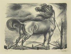 Leo Katz (American, 1887-1992). Horse, 1932. Lithograph, 12 1/4 x 17 1/4 in. (31.2 x 43.8 cm). Brooklyn Museum, Brooklyn Museum Collection, X1042.17. © artist or artist's estate